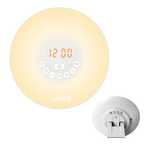best color for alarm clock light sunvito up light alarm clock 7 colors