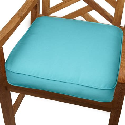 outdoor seat cushion fabric aruba blue indoor outdoor 20 inch chair cushion with