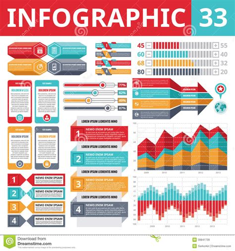 eps format ppt infographics elements 33 stock vector image 39841739
