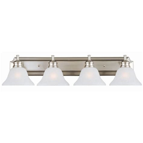 design house lighting products design house bristol 4 light satin nickel vanity light 517128 the home depot