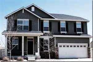 exterior house color dark door dark shutters grey