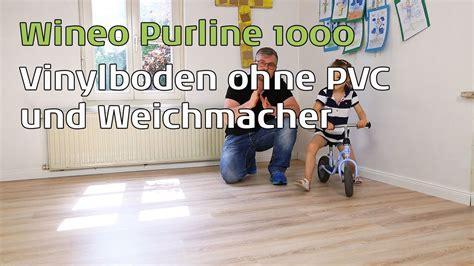 Pvc Boden Weichmacher by Wineo Purline 1000 Vinylboden Ohne Pvc Und Weichmacher
