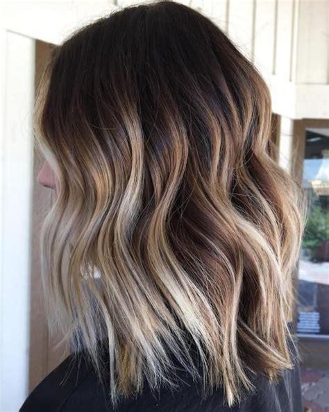 balayage lob 20 natural looking brunette balayage styles blonde