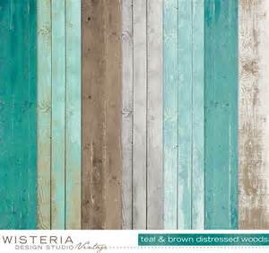 How To Paint And Distress Furniture Shabby Chic by Distressed Wood Paper Pack Teal Brown Gray White By Wdsvintage