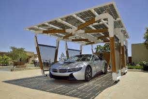 Solar Car Port bmw solar charging carport concept is stunning functional