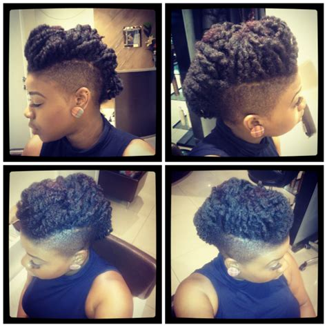 short short mohawk twist out twist out mohawk shared by keisha black hair information
