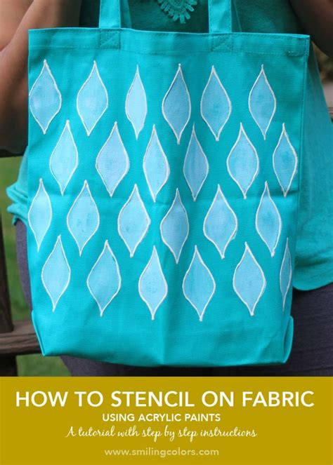 acrylic paint used on fabric how to stencil on fabric with acrylic paints smitha katti