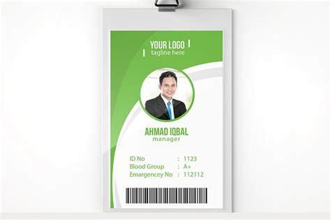 Staff Card Template by Employee Identity Card Template Geccetackletartsco