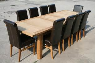 Dining Table Chairs Large Oak Dining Table 2 8m 3 8m Ebay
