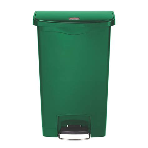 64 gallon trash can toter 64 gal green wheeled trash can 025564 01grs the home depot