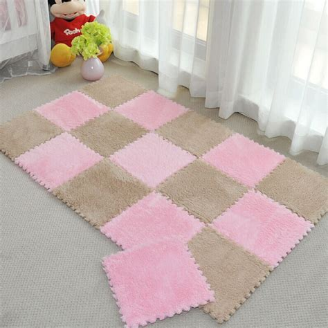 Foam Baby Mat by Fur Hair Puzzle Foam Floor Mat Pad Baby Crawling Cutting Area Rug Play Carpet 30 30cm For
