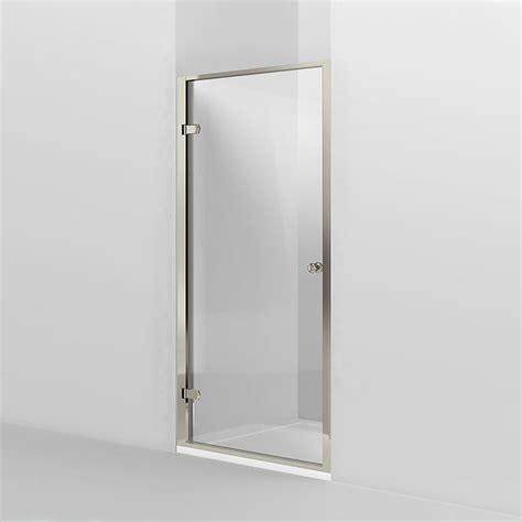 Hinged Shower Doors Uk Arcade Hinged Shower Door Nickel 2 X Size Options At Plumbing Uk