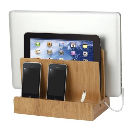 recharge station bamboo multi charging station gadgets matrix