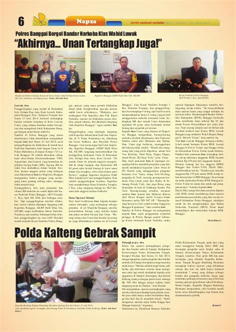 Obat Obat Penting Oop Cetakan Ke 6 Edisi 3 tabloid bnn edisi 71 juli agustus 2014
