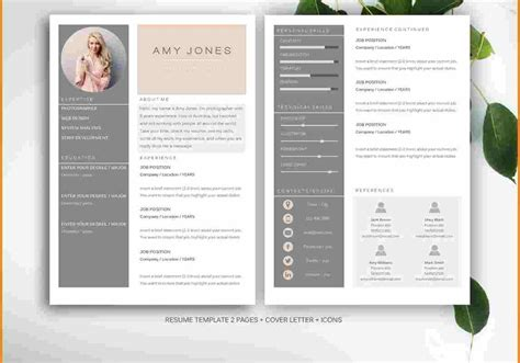 gallery of eye catching resume ideas about professionale template on inside