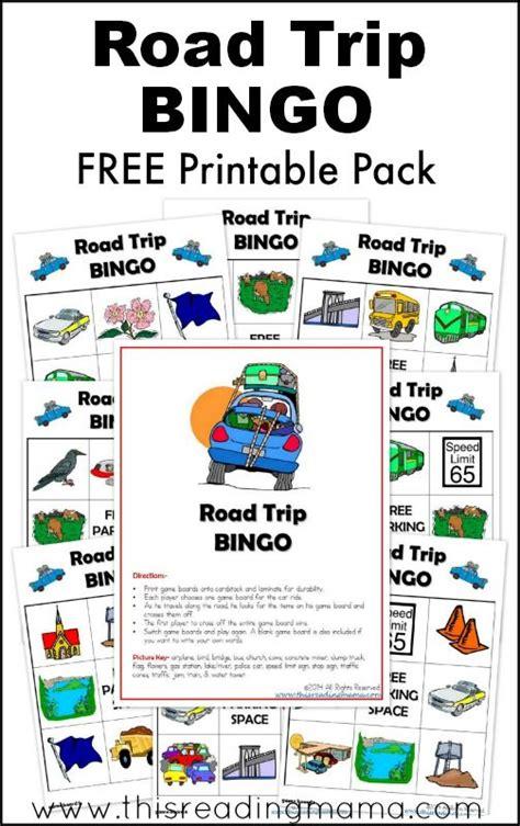 printable road trip bingo free road trip bingo printable game printables long car