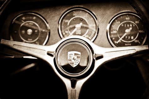 porsche wheel emblem porsche steering wheel emblem photograph by reger