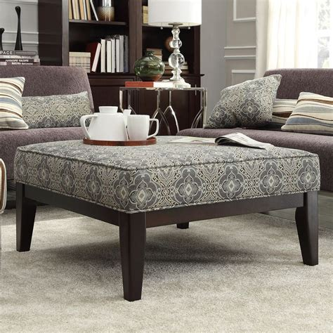 overstock ottoman coffee table the kayla ottoman features a fun color scheme print that