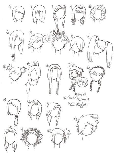simple hairstyles drawing simple hairstyles by wandereratheart on deviantart