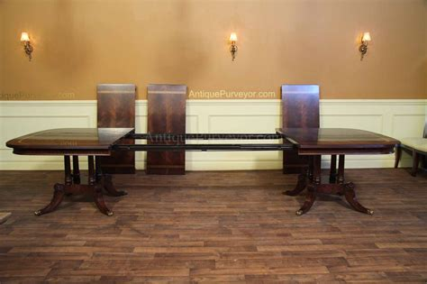 large  wide mahogany dining table seats   people