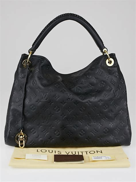 louis vuitton artsy mm bag louis vuitton black monogram empreinte leather artsy mm