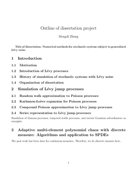 outline for dissertation phd thesis outline