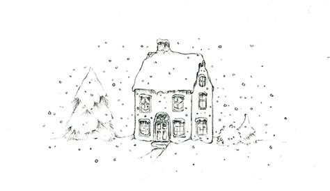 Drawing Snow create a winter learn how to draw snow