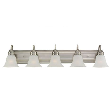 bathroom vanity light fixtures home depot sea gull lighting gladstone 5 light antique brushed nickel
