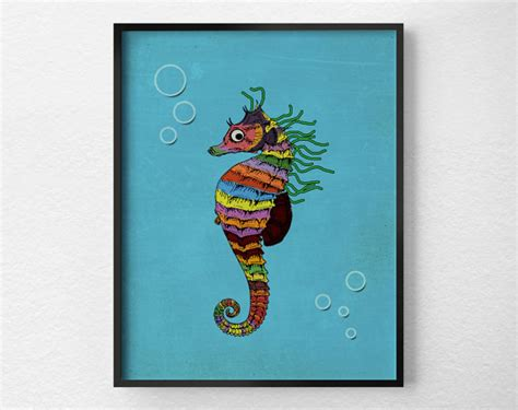 seahorse bathroom seahorse print sea life art bathroom art print nursery wall