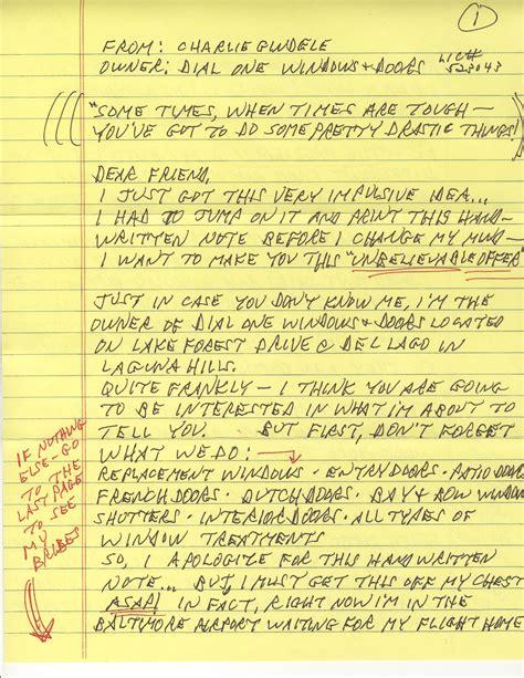layout handwritten letter the handwritten prospecting letter partners in