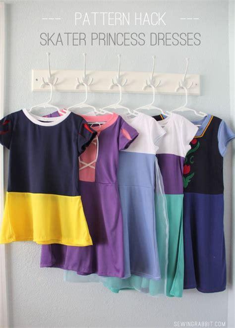 sewing pattern hacks comfy princess dresses disney princess skater dress