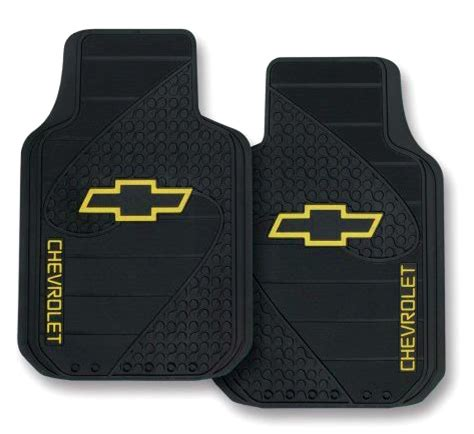 Chevy Car Mats chevrolet bowtie factory molded trim to fit front floor