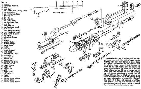 m1 carbine parts diagram m1 garand exploded view