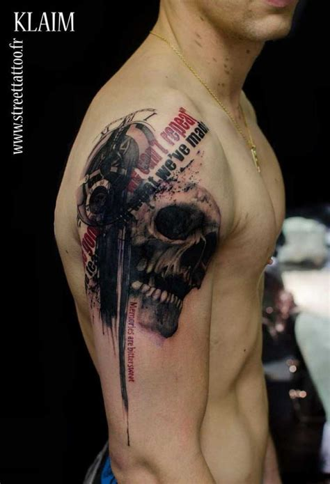 tattoo fonts photoshop photoshop style colored shoulder of human skull