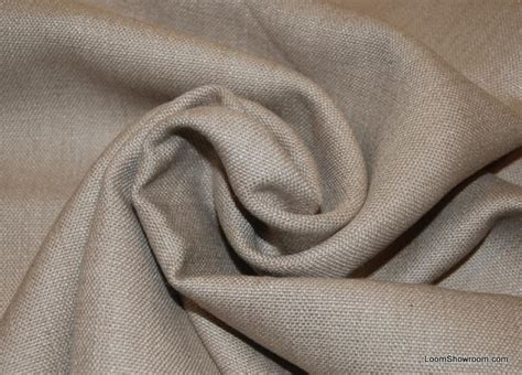 Heavy Weight Linen Upholstery Fabric by Taupe Solid Linen Texture Heavy Weight Cotton Fabric