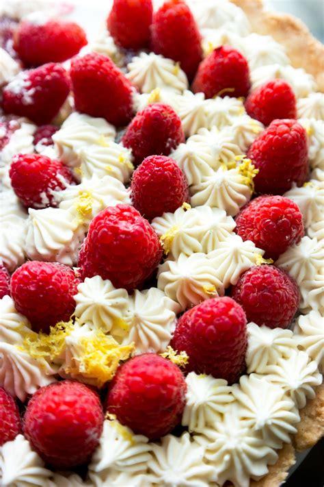 recipes with raspberries lemon tart with raspberries recipe dishmaps