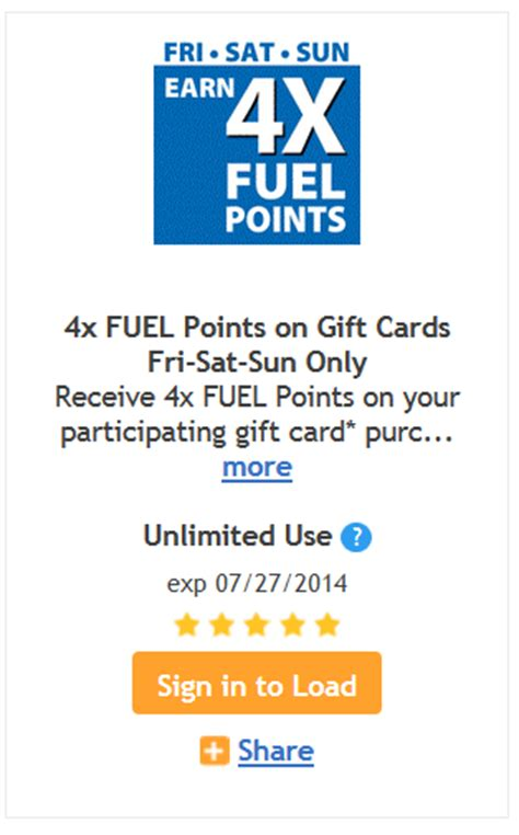 Can I Use A Kroger Gift Card For Gas - kroger 4x fuel points when you buy gift cards kroger krazy