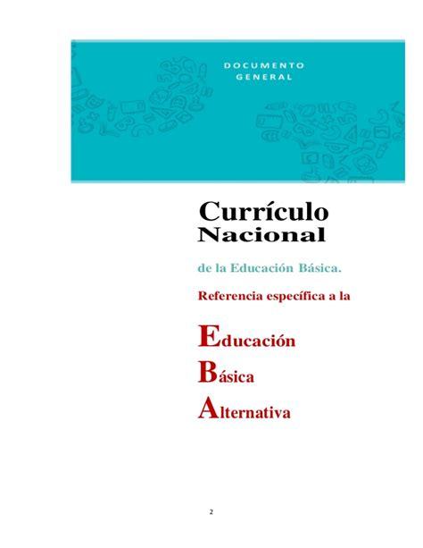 curriculo educacion primaria bolivariana slideshare propuesta del curriculo nacional de la eba