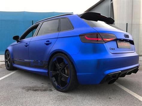 Folie Chrom Matt Blau by Folierung In Chrom Blau Am Audi Rs3 550 By Bb Folien