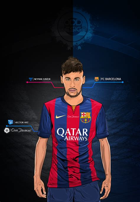wallpaper neymar cartoon neymar jr fc barcelona vector work by onurdmrcn on deviantart