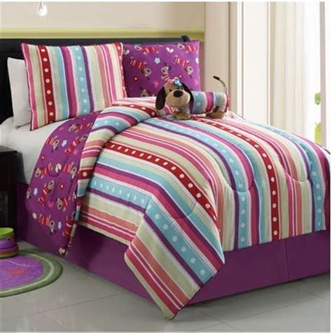 purple puppy girls comforter set bedding ideas pinterest