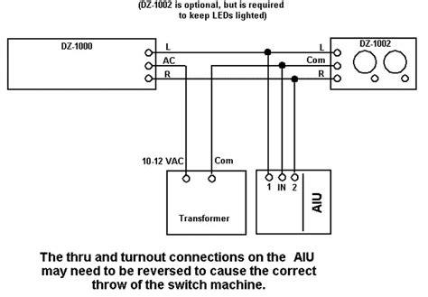 wiring dz1000 to aiu o railroading on line forum