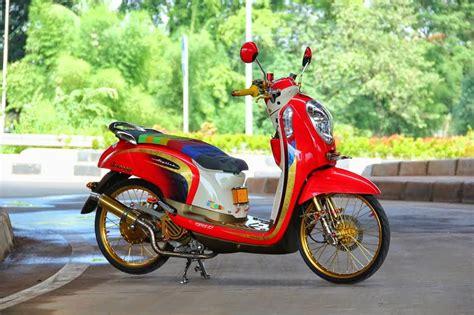 Modifikasi Motor Scoopy by Modifikasi Motor Scoopy Velg 17