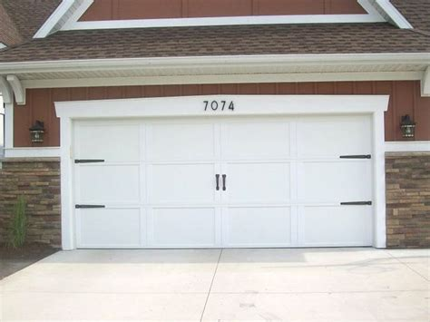 Garage Door Numbers Add Hardware And Numbers To Dress Up Garage Door