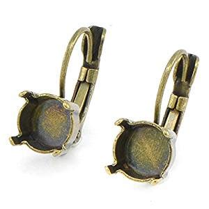 Handmade Jewelry Makers - 5 pairs 39ss 8mm leverback earrings base for