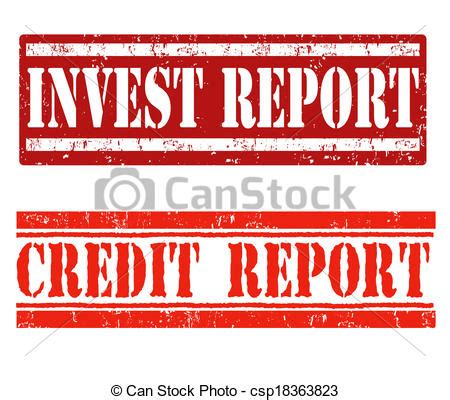 doodle free credit report vector illustration of invest report and credit report