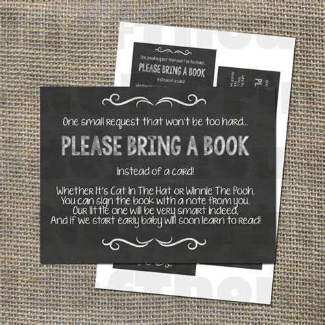 Baby Shower In Lieu Of A Card Bring A Book by Bring A Book Instead Of A Card Insert For Baby Shower