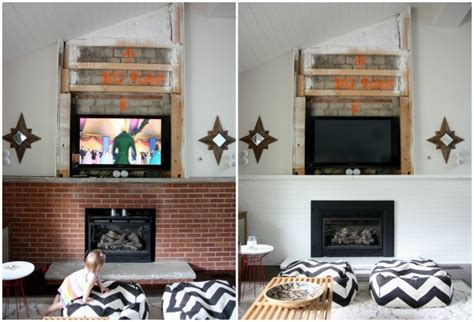 budget office furniture bristol va 100 painted brick fireplace makeover how our diy