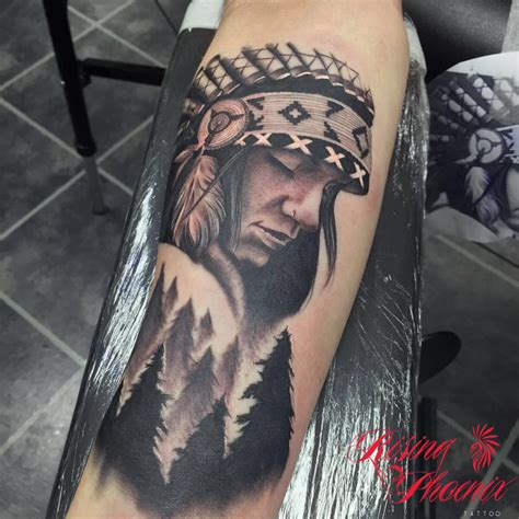 native american tattoo sleeve american sleeve rising