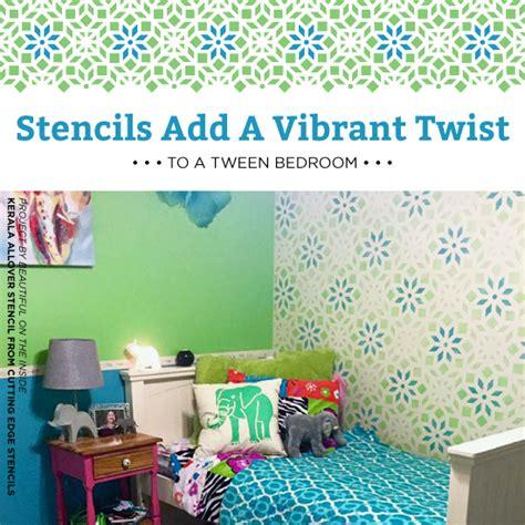 girls bedroom stencils stencils add a vibrant twist to a tween bedroom stencil